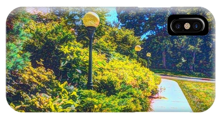 Lampposts IPhone X Case featuring the photograph Three Lamp Posts by Becky Lupe