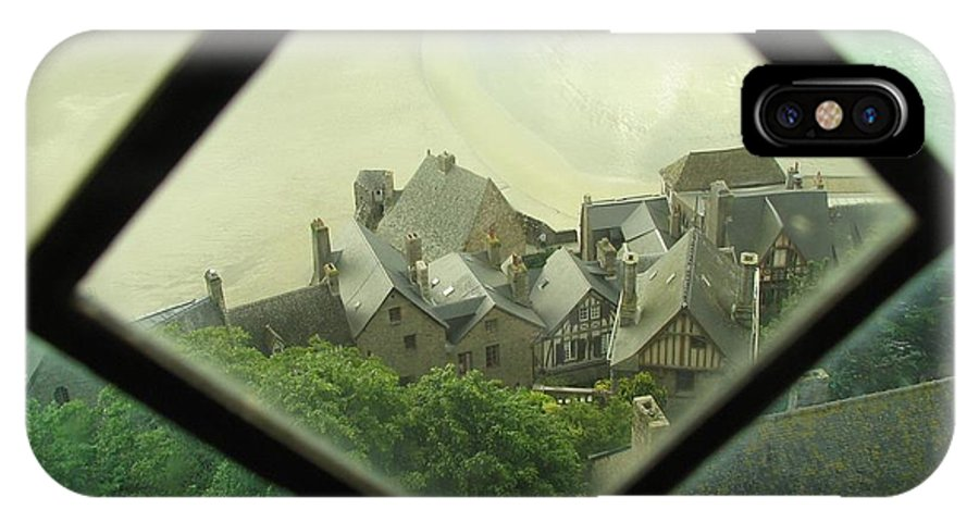 Le Mont St-michel IPhone X Case featuring the photograph Through A Window To The Past by Mary Ellen Mueller Legault