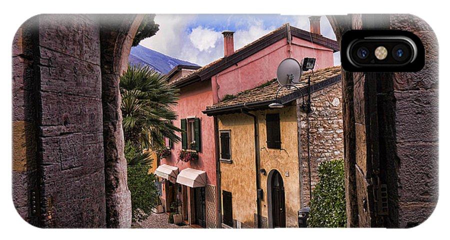 Lake Garda IPhone X Case featuring the photograph Through The Castle Door by Brenda Kean