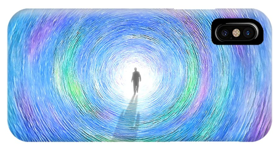 Fantasy IPhone X Case featuring the digital art Through The Light by Cristophers Dream Artistry