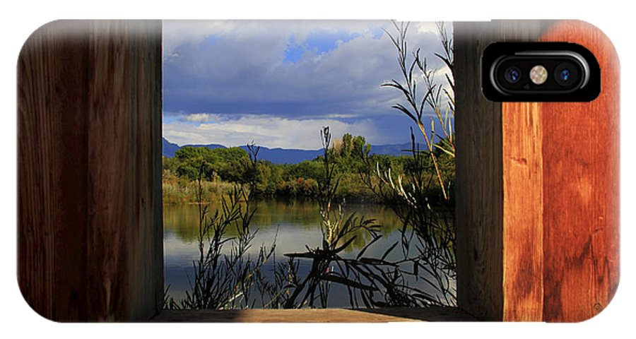 Albuquerque IPhone X Case featuring the photograph Through The Window by David Duplessie