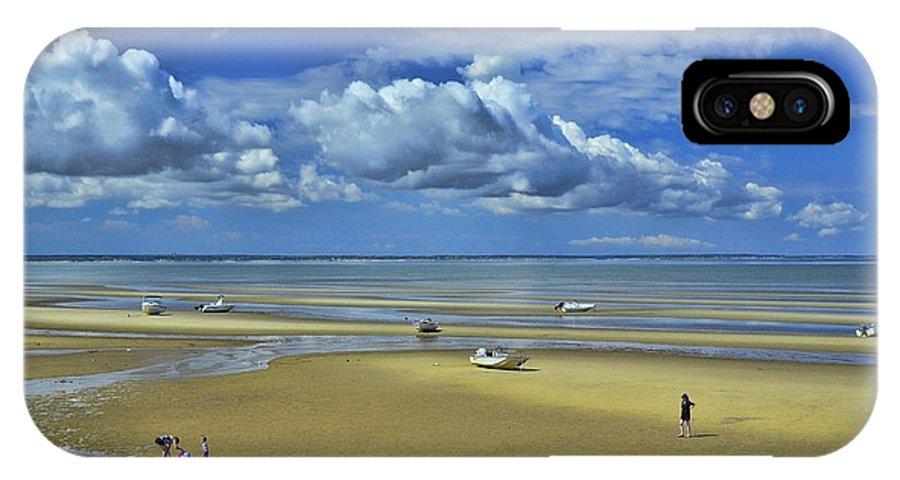 Thumpertown Beach Lowtide IPhone X Case featuring the photograph Thumpertown Beach Lowtide by Allen Beatty