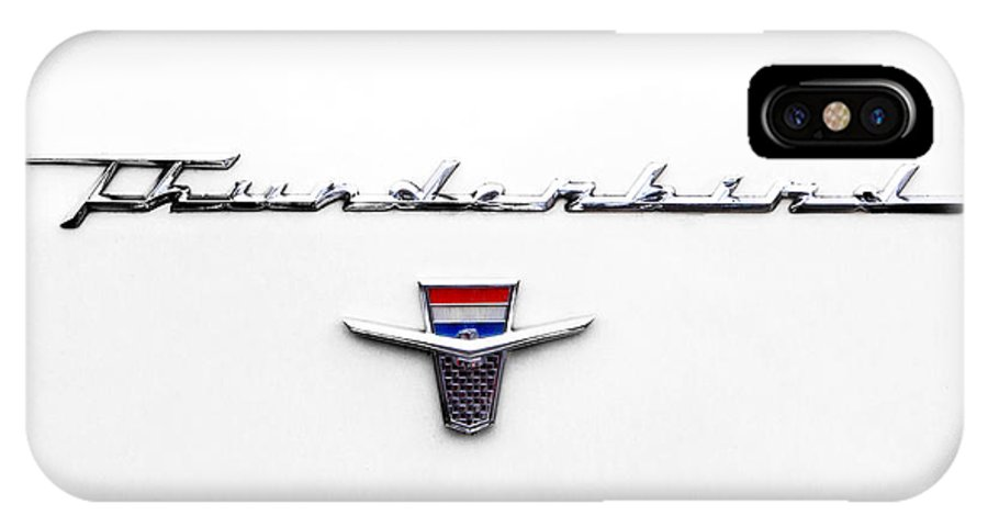 1962 IPhone X Case featuring the photograph Thunderbird Tag by Jerry Fornarotto