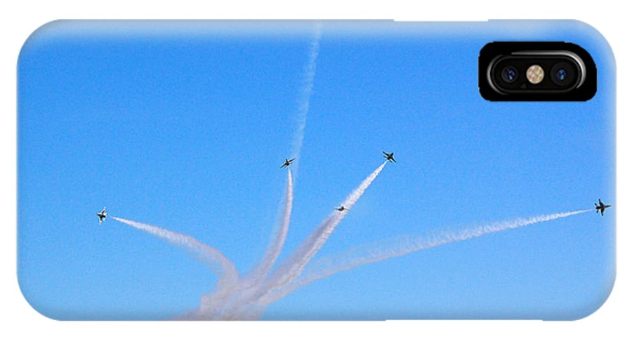 Thunderbirds IPhone X / XS Case featuring the photograph Thunderbirds Divided by Debra Thompson