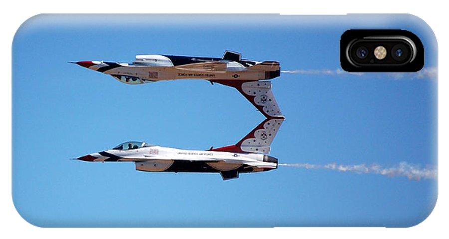 Thunderbirds IPhone X Case featuring the photograph Thunderbirds Jet Team Perfect Symmetry by Debra Thompson