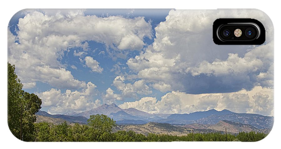 Clouds IPhone X / XS Case featuring the photograph Thunderstorm Clouds Boiling Over The Colorado Rocky Mountains by James BO Insogna