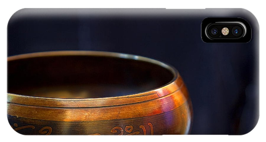 Tibet IPhone X Case featuring the photograph Tibetan Singing Bowl by Theresa Tahara