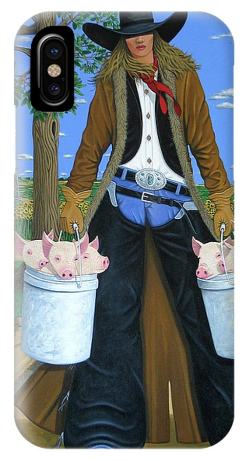 Little Piglets IPhone Case featuring the painting Tickled Pink by Lance Headlee