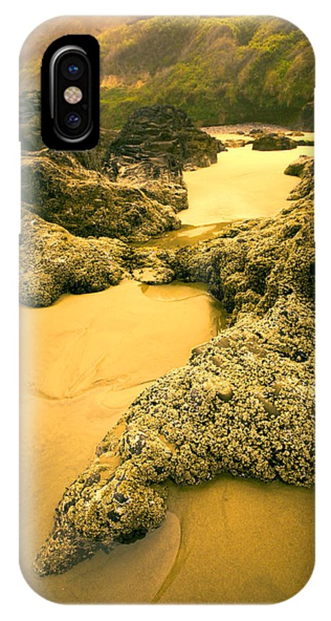 Tidepools IPhone X Case featuring the photograph Tidepools From Above by Bonnie Bruno