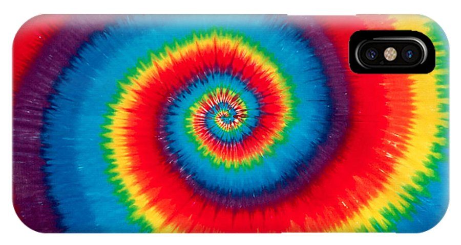 Tie Dye IPhone X Case featuring the photograph Tie Dye by Anthony Sacco
