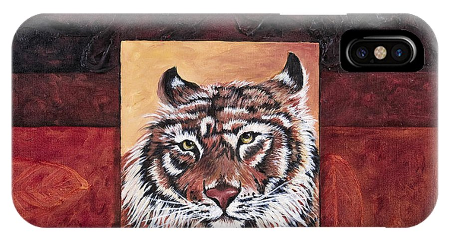 Animal IPhone X Case featuring the painting Tiger 2 by Darice Machel McGuire