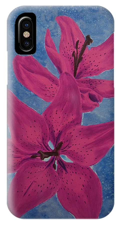 Flower IPhone X / XS Case featuring the painting Tiger Lily by Nathan Wilson