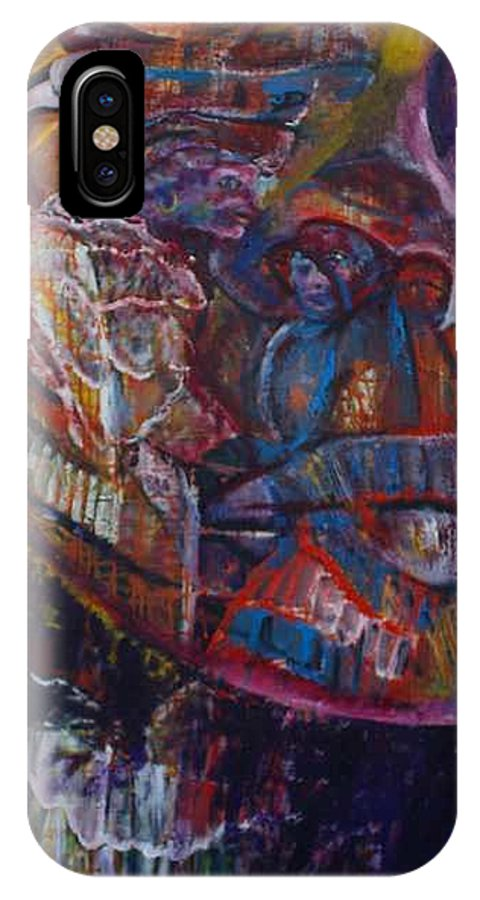 African Women IPhone X Case featuring the painting Tikor Woman by Peggy Blood