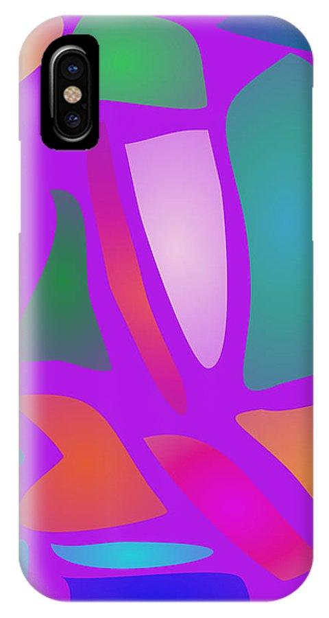 Gradation IPhone X Case featuring the digital art Tiles by Masaaki Kimura