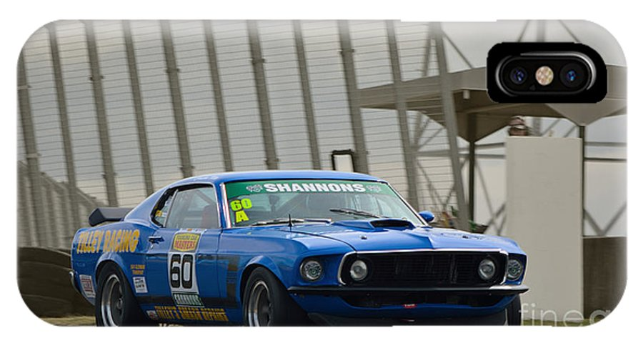 Mustang IPhone X Case featuring the photograph Tilley Racing Mustang by Stuart Row