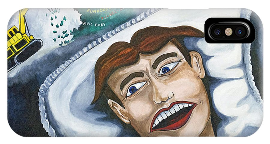 Asbury Park IPhone X Case featuring the painting Tillies Nightmare by Patricia Arroyo