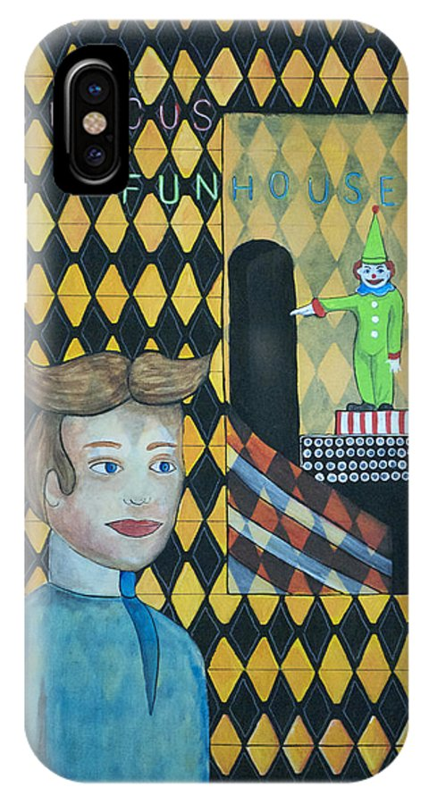 Asbury Park IPhone X Case featuring the painting A Postcard Memory by Patricia Arroyo
