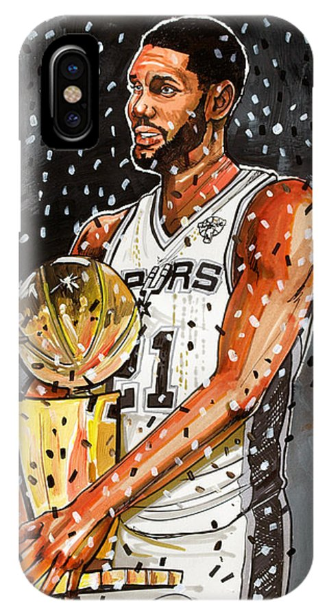 tim duncan nba champion iphone x case for sale by dave olsen