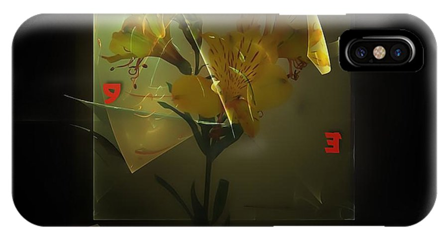 Graphics IPhone X Case featuring the digital art Time 0582 Marucii by Marek Lutek