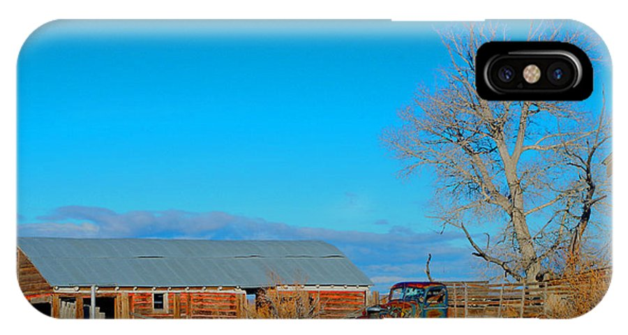 Homesteads IPhone X Case featuring the photograph Time Gone By by Sherri Krause