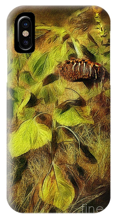 Photoshop IPhone X Case featuring the digital art Time Is The Enemy by Rhonda Strickland