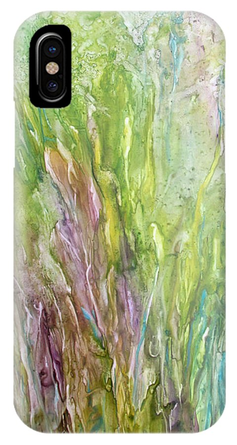 Art IPhone X Case featuring the painting Time Of The Season by Rosie Brown