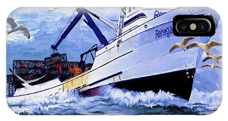 Alaskan King Crabber IPhone Case featuring the painting Time To Go Home by David Wagner