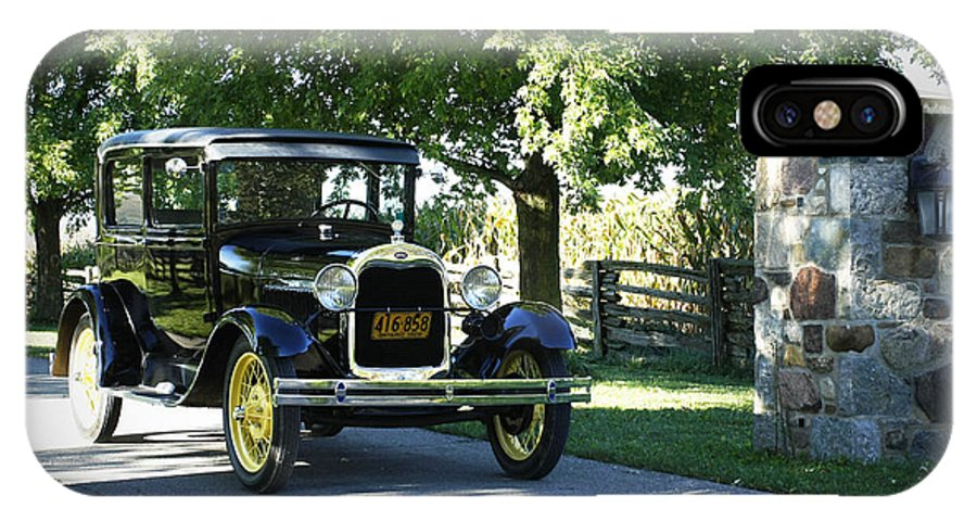 Timeless IPhone X Case featuring the photograph Timeless Beauty Vintage Model A Ford Tudor by Inspired Nature Photography Fine Art Photography