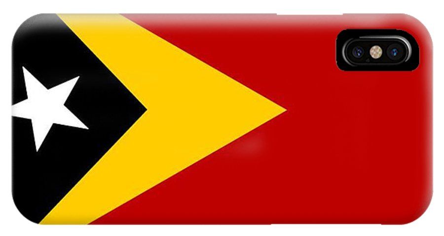 Timor-leste IPhone X Case featuring the digital art Timor-leste Flag by Frederick Holiday