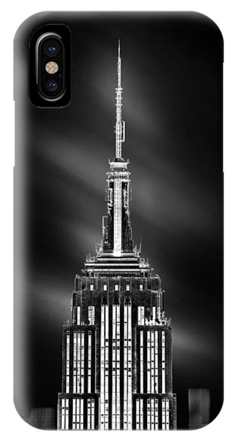 Empire State Building IPhone X Case featuring the photograph Tip Of The World by Az Jackson