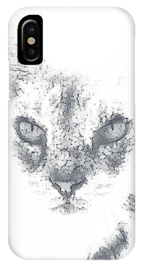 Cats IPhone X Case featuring the photograph Tip by Renee McDaniel