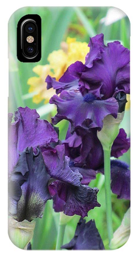 Iris IPhone X Case featuring the photograph Titan's Glory Iris by Iris Prints