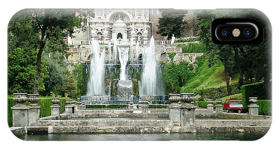 Italy IPhone X Case featuring the photograph Tivoli Fountains by Ted Pollard