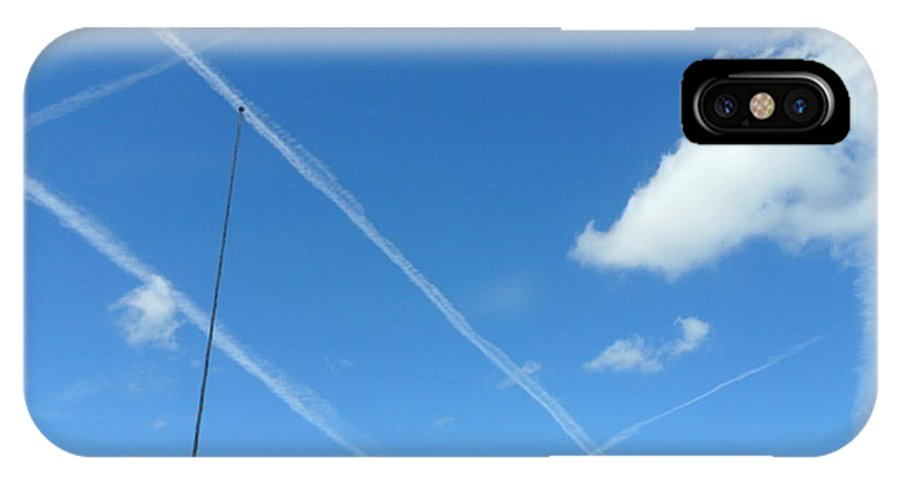 Sky IPhone X Case featuring the photograph Tix Tac Doe by Val Oconnor