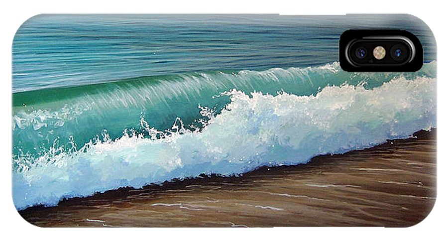 Wave On A Florida Beach IPhone X Case featuring the painting To The Shore by Hunter Jay