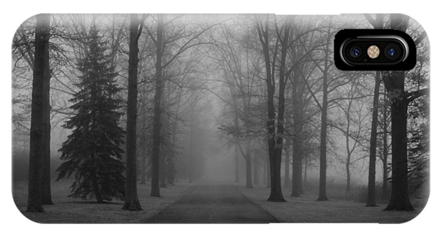 To Where It Leads IPhone X Case featuring the photograph To Where It Leads Bw by Rachel Cohen