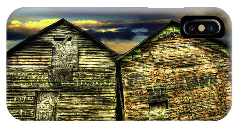 Old Barns IPhone X Case featuring the photograph Together Until The End by Thomas Young