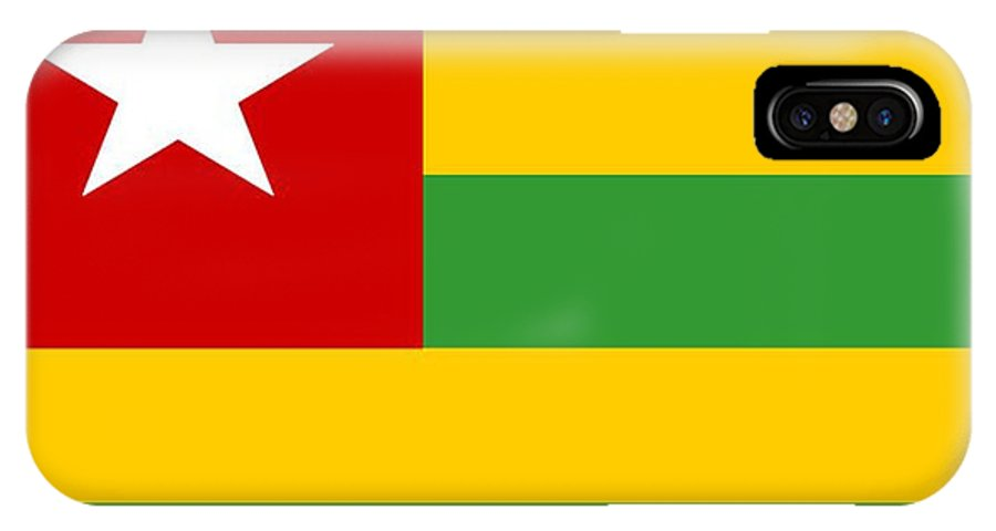 Togo IPhone X Case featuring the digital art Togo Flag by Frederick Holiday