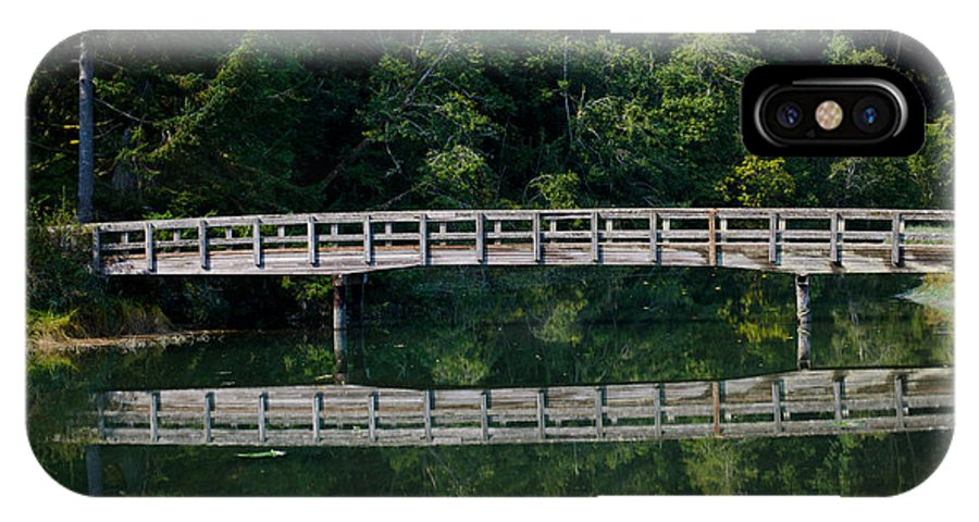 Bridge IPhone X Case featuring the photograph Tolmie Bridge by Tikvah's Hope