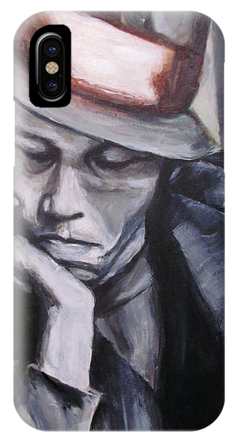 Celebrity Portraits IPhone X Case featuring the painting Tom Waits One by Eric Dee