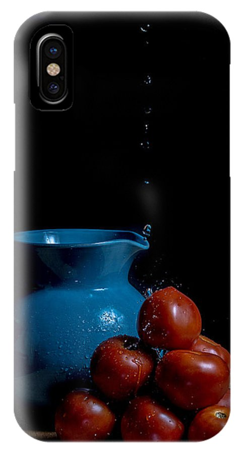 Still Life IPhone X Case featuring the photograph Tomatoes And Pitcher by Theodore Lewis
