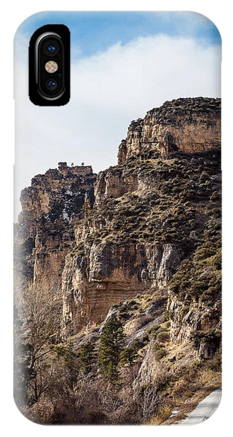 Bighorn Mountains IPhone X Case featuring the photograph Tongue River Canyon by Michael Chatt