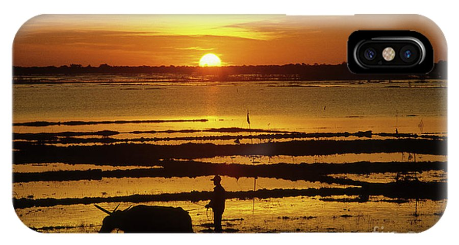 Cambodia IPhone X Case featuring the photograph Tonle Sap Sunrise 01 by Rick Piper Photography