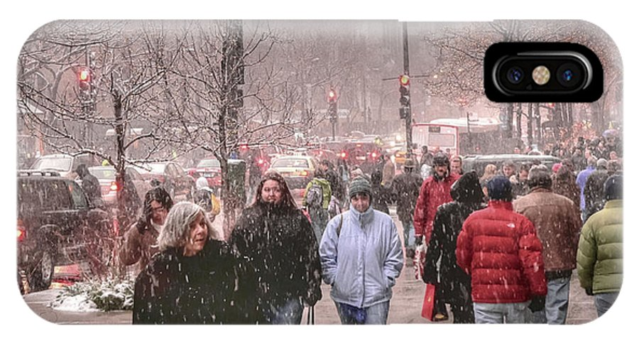 Hdr IPhone X / XS Case featuring the photograph Too Soon The Snow by David Bearden