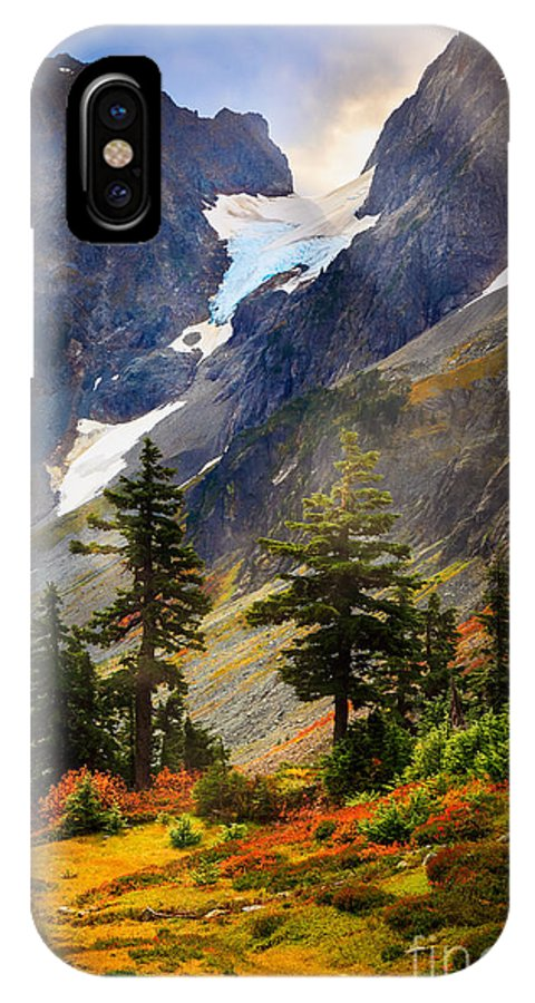 America IPhone X Case featuring the photograph Top Of Cascade Pass by Inge Johnsson