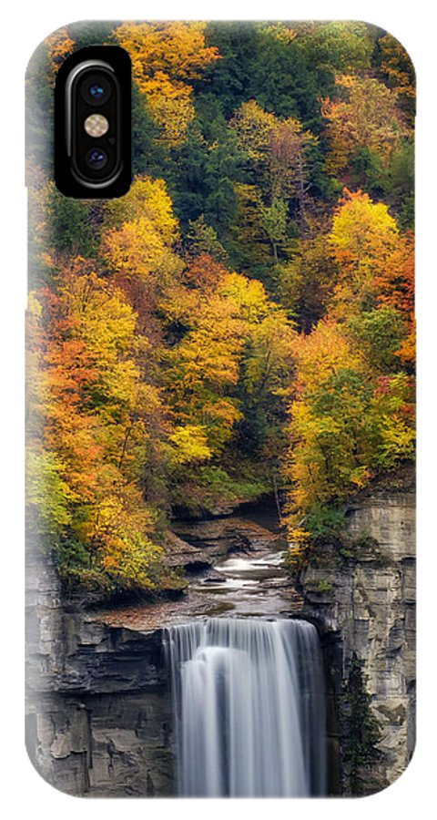 Taughannock Falls IPhone X Case featuring the photograph Top Of The Falls by Mark Papke