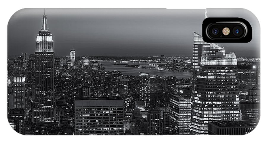 Clarence Holmes IPhone X / XS Case featuring the photograph Top Of The Rock Twilight V by Clarence Holmes