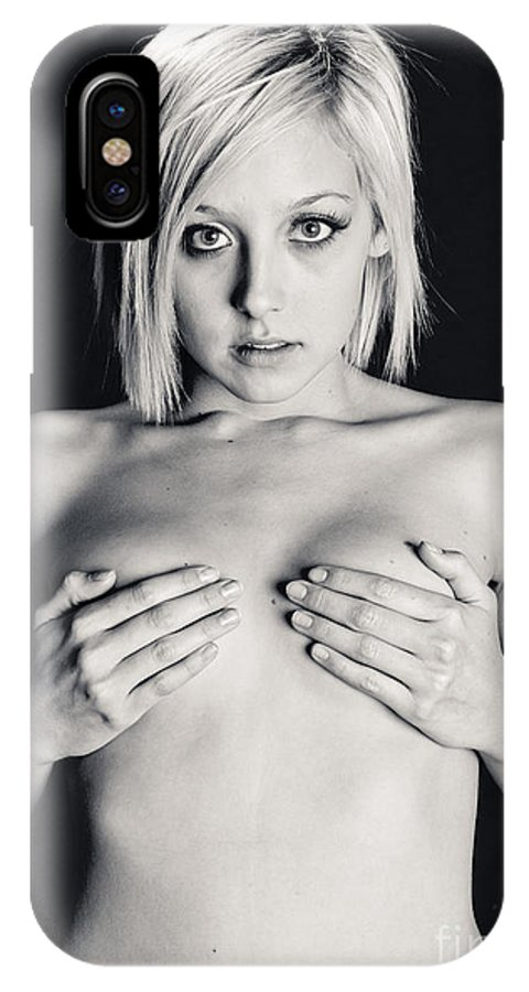 Topless Woman IPhone X / XS Case featuring the photograph Topless Anticipation by Scott Sawyer