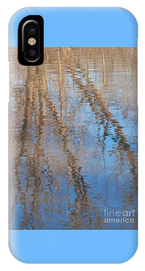 Tree IPhone X Case featuring the photograph Topside Down by Ann Horn