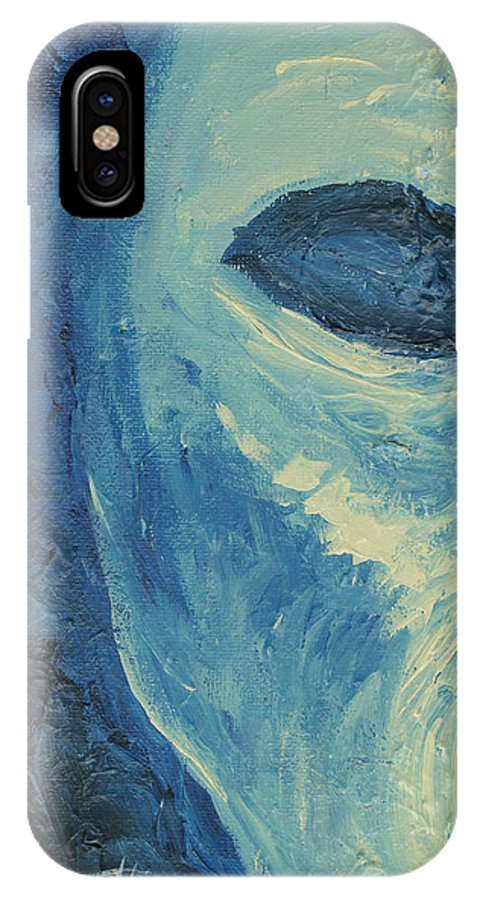 Painting IPhone X Case featuring the painting Torment by Monica Veraguth